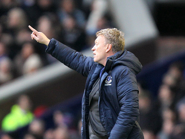 Everton manager David Moyes on the touchline in the match against Chelsea on December 30, 2012