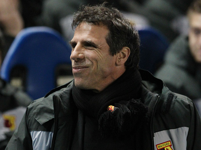 Watford manager Gianfranco Zola during the match against Brighton on December 29, 2012