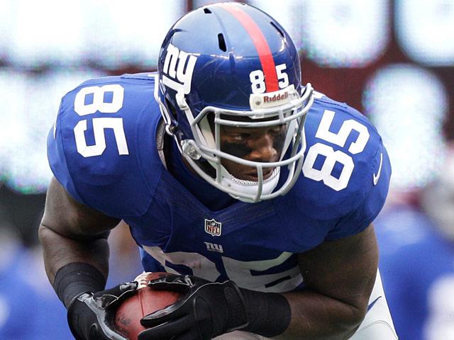 New York Giants' Martellus Bennett on October 7, 2012