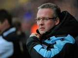 Villa boss Paul Lambert watches on against Swansea on January 1, 2013