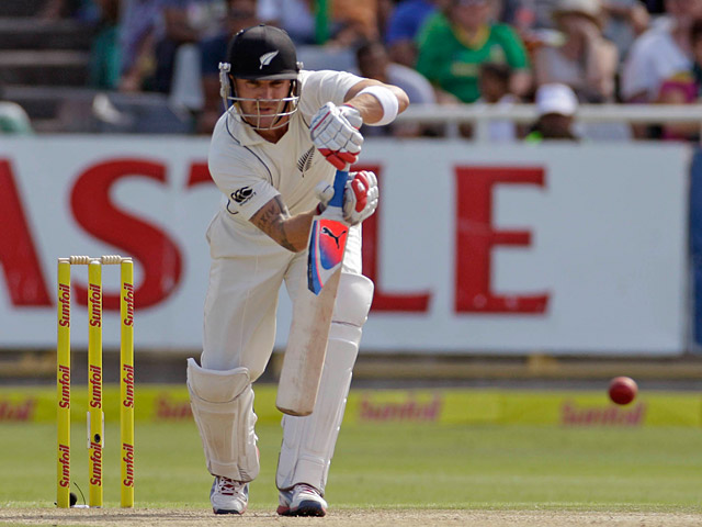 New Zealand's Brendon McCullum on January 3, 2013