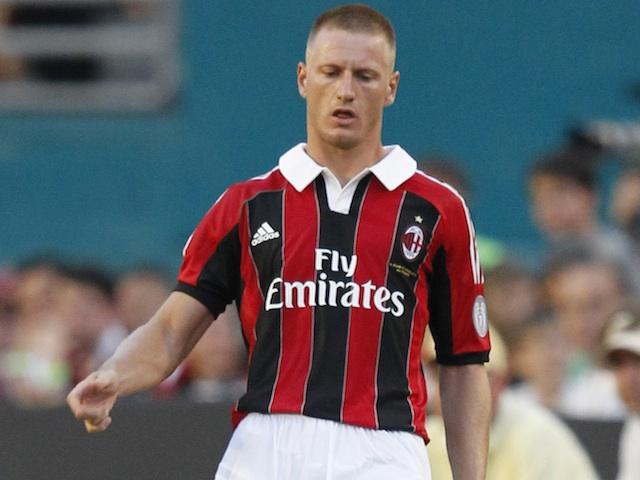 Milan defender Ignazio Abate in action against Chelsea on July 28, 2012
