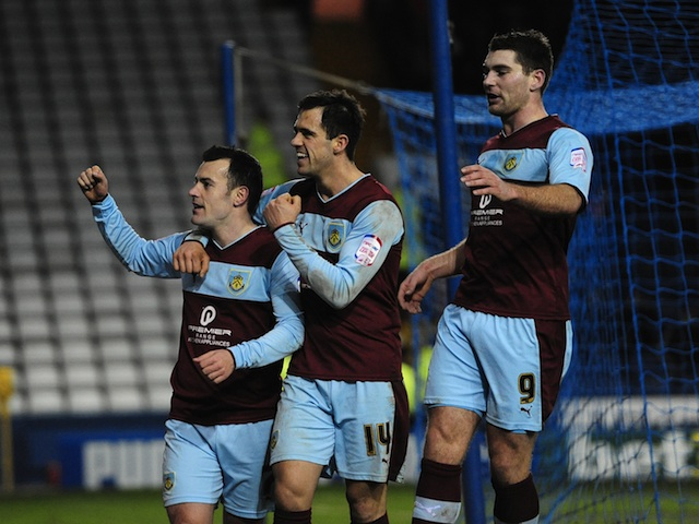 Burnley's Ross Wallace celebrates his penalty against Sheffield Wednesday on January 1, 2013
