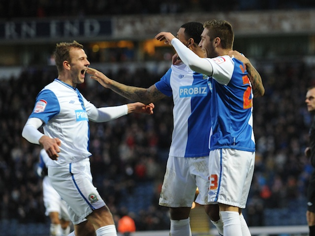 Rovers' Ruben Rochina celebrates his goal against Forest on January 1, 2013