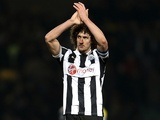 Newcastle captain Fabricio Coloccini applauds the away fans after the game at Norwich on January 12, 2013