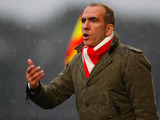 Swindon Town manager Paolo Di Canio during the match against Bournemouth on January 12, 2013