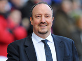 Chelsea interim manager Rafa Benitez smiles during the match against Stoke on January 12, 2013
