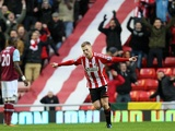 Sunderland midfielder Seb Larsson celebrates the opening goal against West Ham on January 12, 2013