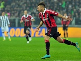 Milan forward Stephan El Shaarawy celebrates a goal against Juventus in the Italian Cup on January 9, 2013