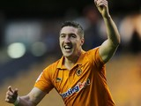 Stephen Ward celebrates scoring for Wolves on August 21, 2012