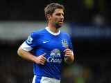 Everton midfielder Thomas Hitzlsperger playing against Chelsea on December 30, 2012