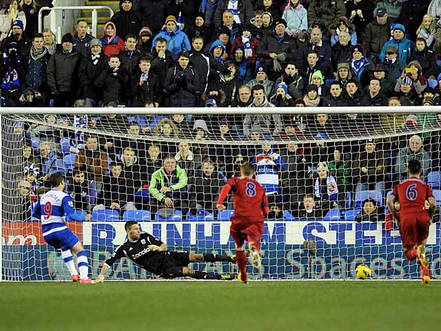 Adam Le Fondre converts a penalty to pull a goal back against West Brom on January 12, 2013