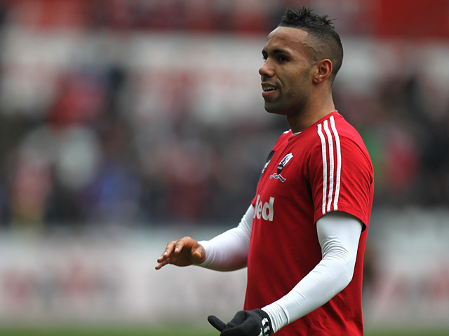 Kyle Bartley during a warm up on January 6, 2013