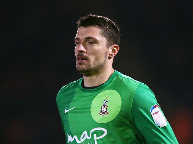Bradford goalkeeper Matt Duke on December 11, 2012