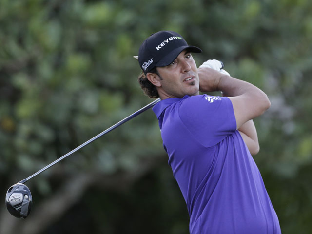 Scott Piercy in action at the Tournament of Champions PGA golf tournament on 8 January, 2013