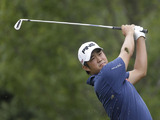 James Hahn on the course during the first round of play in the Tour Championship golf tournament on September 20, 2012