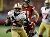 49ers' LaMichael James breaks into the end zone against Atlanta on January 20, 2013