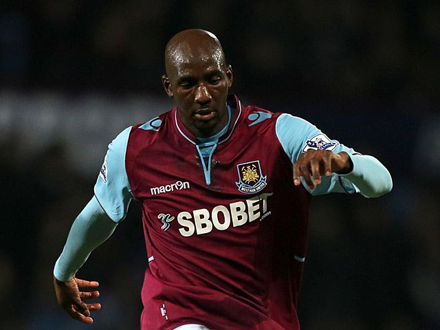 West Ham's Alou Diarra in action on January 5, 2013