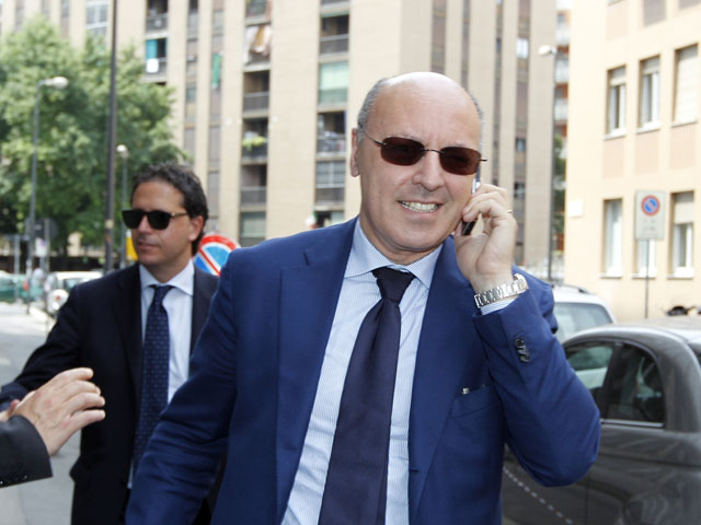 Juventus director Giuseppe Marotta arrives at the Soccer League headquarters to attend a meeting on July 4, 2012
