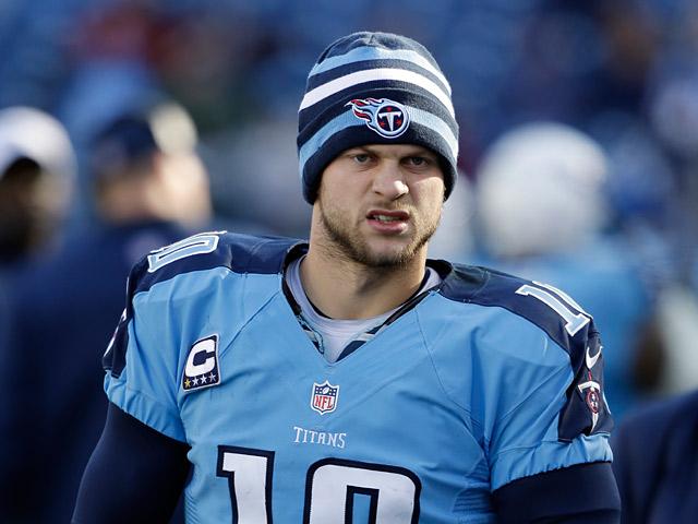 Tennessee Titans' Jake Locker on December 30, 2012