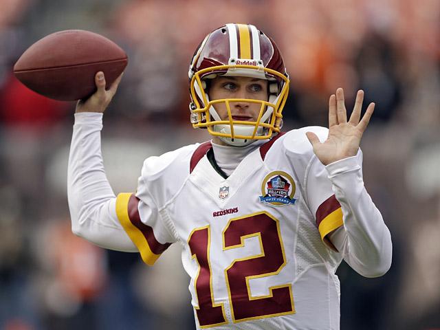 Washington Redskins' Kirk Cousins on December 16, 2012