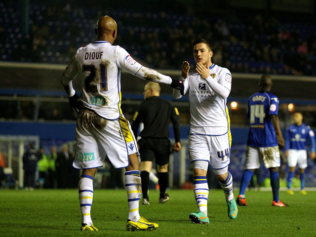 Leeds United player Ross McCormack celebrates scoring in his sides FA Cup match on January 15, 2013