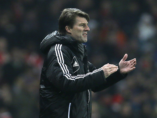 Swansea City manager Michael Laudrup during the FA cup third round replay against Arsenal on January 16, 2013