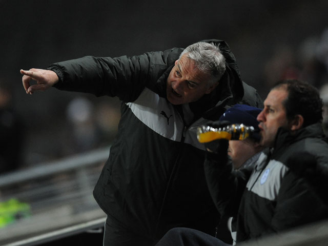 Sheffield Wednesday manager Dave Jones during his sides match against MK Dons on January 15, 2013