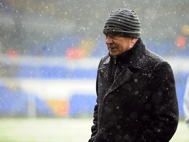 Man Utd manager Sir Alex Ferguson before kick-off in the game against Tottenham on January 20, 2013