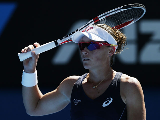 Samantha Stosur of Australia during her second round match at the Australian Open tennis championship on January 16, 2013