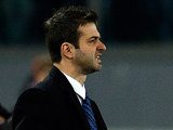 Inter boss Andrea Stramaccioni on the touchline during the match against Roma