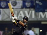 Batsmen Jesse Ryder of the Pune Warriors hits a shot during the Indian Premier League on May 16, 2011