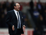Chelsea interim manager Rafa Benitez reacts on the touchline against Swansea on January 23, 2013