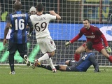 Torino's Riccardo Maggiorini scores against Inter Milan on January 27, 2013