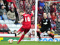 Bristol City player Steven Davies scores in his sides Championship match with Ipswich Town on January 26, 2013