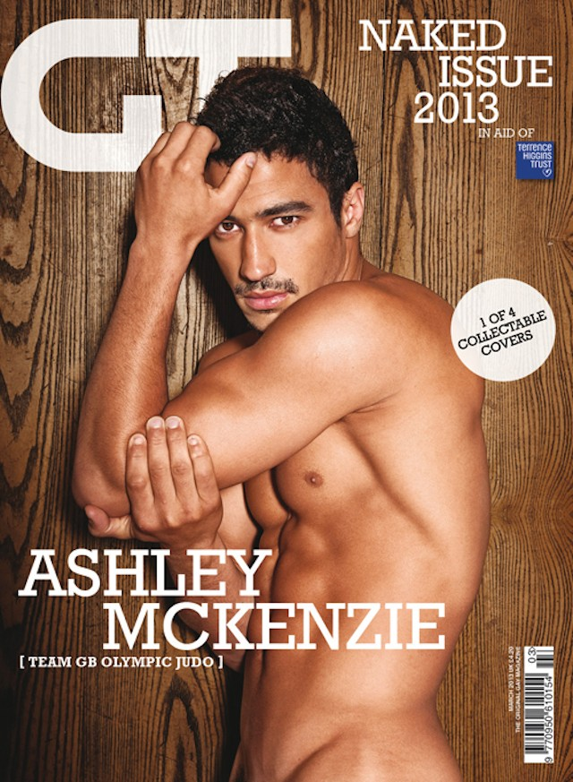 Ashley McKenzie naked for Gay Times magazine