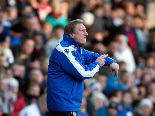 Leeds manager Neil Warnock on the touchline during the FA Cup fourth round tie against Tottenham on Janaury 27, 2013