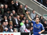 Chelsea's Frank Lampard celebrates his equaliser at Newcastle on February 2, 2013