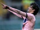 Palermo's Diego Fabbrini celebrates his goal against Pescara on February 10, 2013