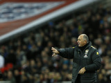 Brazil manager Luiz Felipe Scolari on the sideline during his team's match with England on February 6, 2013