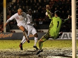 England under 21s' Jonjo Shelvey scores against Sweden on February 5, 2013