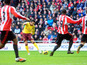 Arsenal's Santi Cazorla scores during his side's match at Sunderland on February 9, 2013