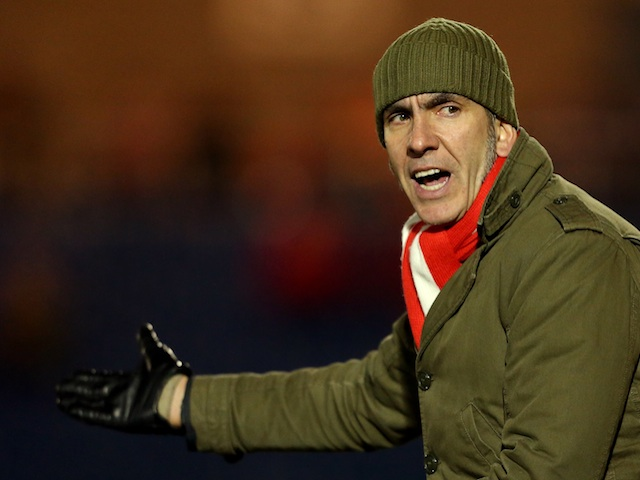 Swindon boss Paulo Di Canio on the touchline against Colchester on February 5, 2013