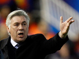 Paris Saint-Germain's boss Carlo Ancelotti on the touchline during the Champions League match against Valencia on February 12, 2013