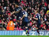 Blackburn's Colin Kazim-Richards celebrates his goal against Arsenal in the FA Cup 5th round on February 16, 2013