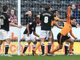Hull's Gedo celebrates moments after scoring the opening goal against Charlton on February 16, 2013