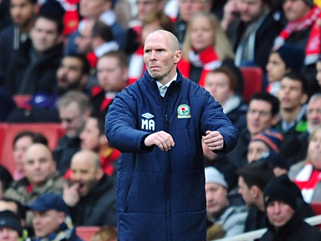 Blackburn boss Michael Appleton on the touchline during the FA Cup 5th round tie with Arsenal on February 16, 2013