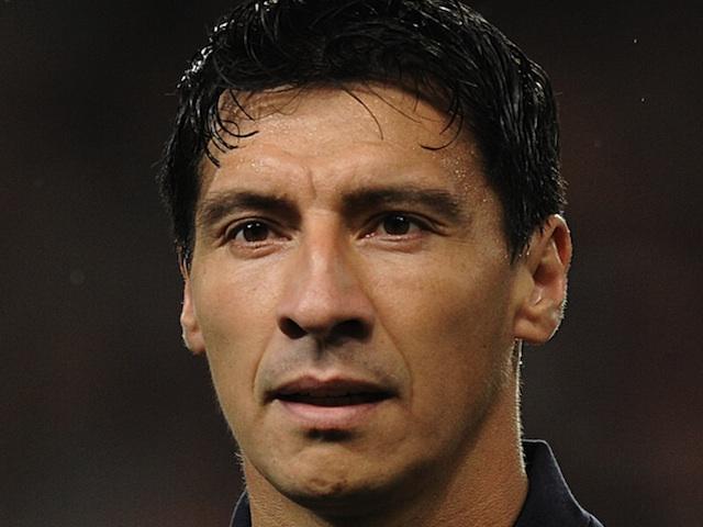 Olympiacos' Pablo Contreras on October 3, 2012