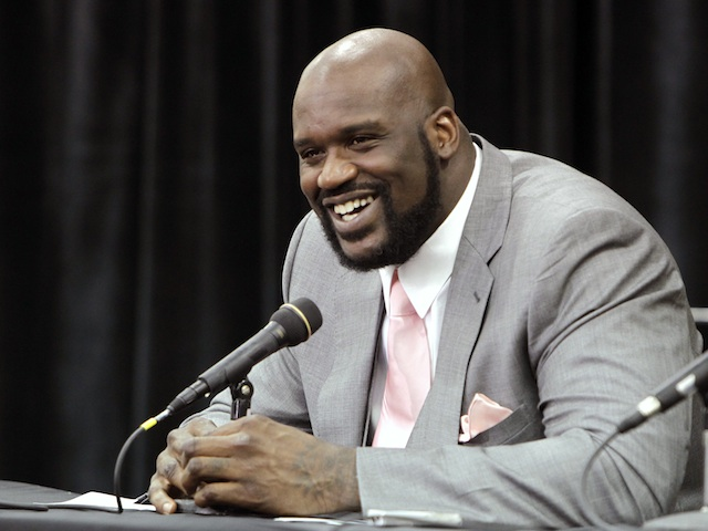 Former NBA star Shaquille O'Neal, at a press conference on June 3, 2011