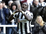Newcastle's Moussa Sissoko celebrates his equaliser against Southampton on February 24, 2013